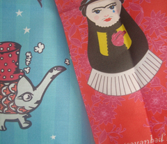 Cateapillar and Fridushka Teatowels