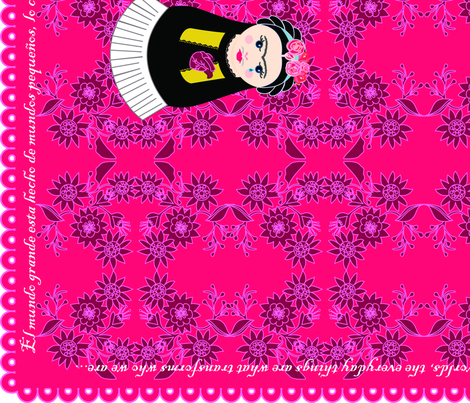 Cateapillar and Fridushka Teatowels fabric by gurumania on Spoonflower - custom fabric