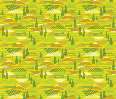 Italian Countryside fabric by acbeilke on Spoonflower - custom fabric