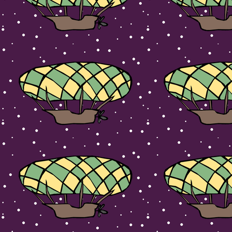 Dirigible fabric by pond_ripple on Spoonflower - custom fabric