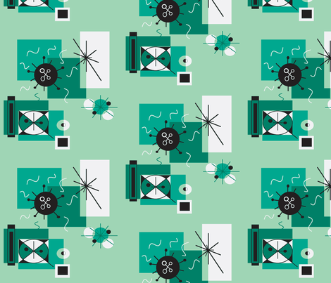 retro fireworks fabric by cherthebear on Spoonflower - custom fabric