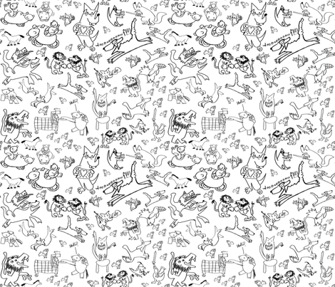Animals by FuJing, age 8 fabric by joybucket on Spoonflower - custom fabric