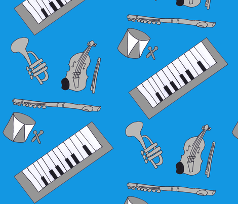 instruments fabric by magneetje on Spoonflower - custom fabric