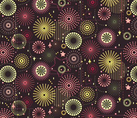 Crackling Sky fabric by demigoutte on Spoonflower - custom fabric