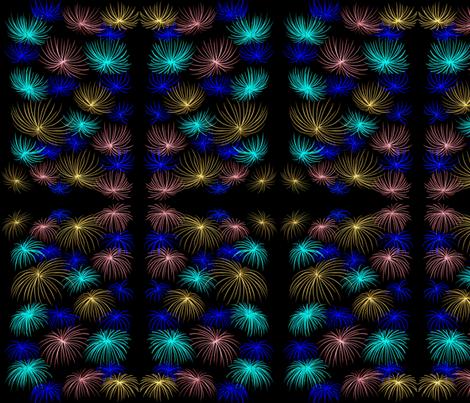 Chrysanthemum Fireworks fabric by lothar on Spoonflower - custom fabric