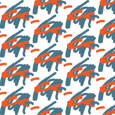 Tiger/Cheese doodle? fabric by theboerwar on Spoonflower - custom fabric
