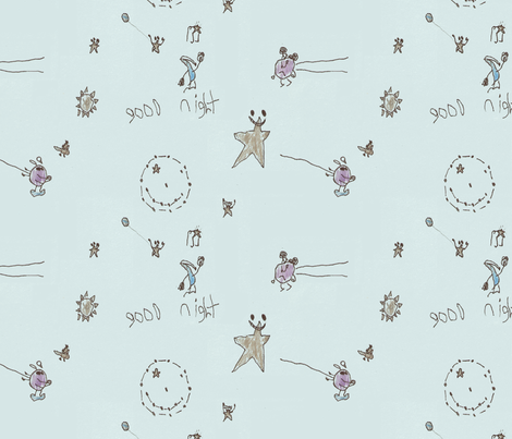 Good Night fabric by darkmatter on Spoonflower - custom fabric