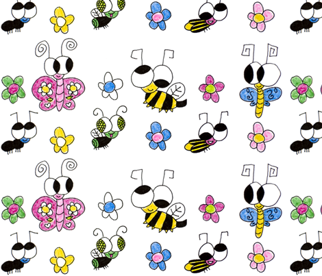 BigEyedBugs fabric by crazy_socks on Spoonflower - custom fabric