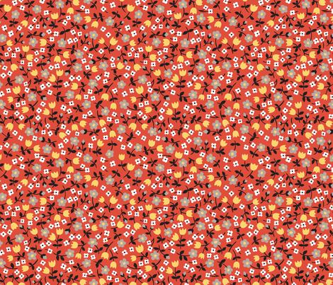 Tulip calico fabric by minimiel on Spoonflower - custom fabric