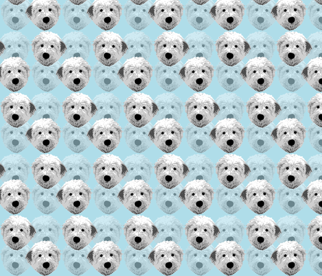 English_sheepdog_1 fabric by mayabella on Spoonflower - custom fabric