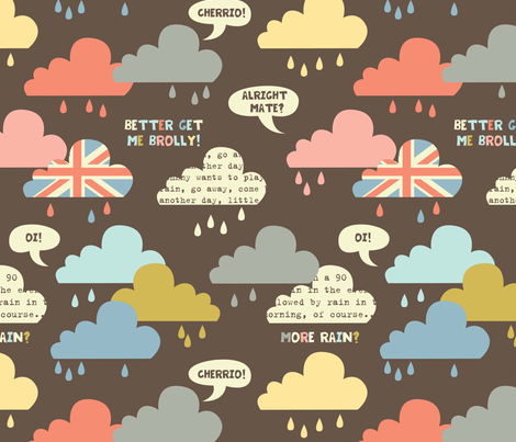 rainy london clouds  fabric by amel24 on Spoonflower - custom fabric