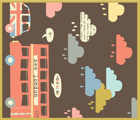 rainy london dish towel fabric by amel24 on Spoonflower - custom fabric