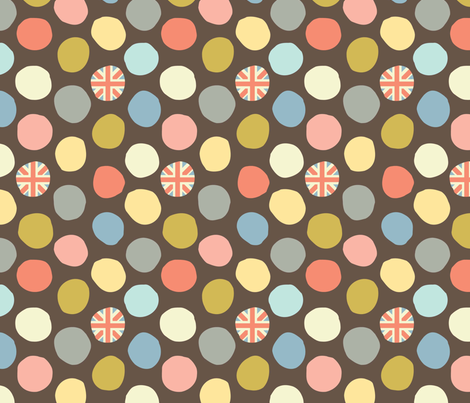 rainy london dot fabric by amel24 on Spoonflower - custom fabric