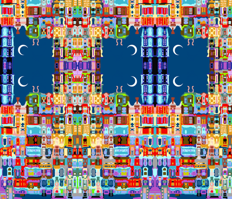 Slumbering City fabric by robin_rice on Spoonflower - custom fabric