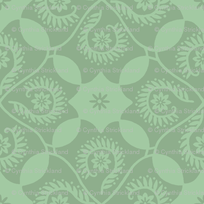 Ocean Breeze Damask