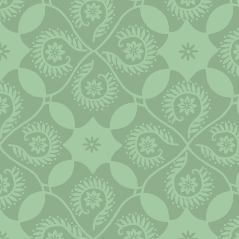 Ocean Breeze Damask fabric by cksstudio80 on Spoonflower - custom fabric