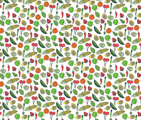 Fruit & Vegetables fabric by candyjoyce on Spoonflower - custom fabric