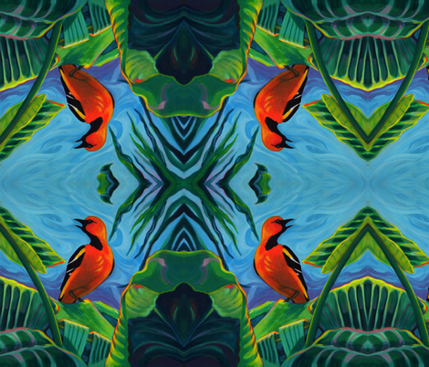 Tropical Oriole, Costa Rica fabric by jnetjarmon on Spoonflower - custom fabric
