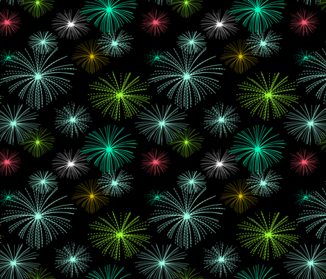 fireworks fabric by ravynka on Spoonflower - custom fabric