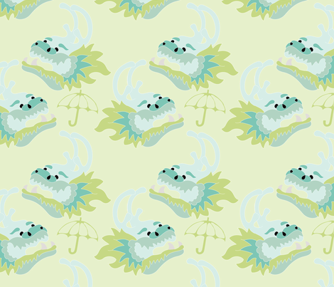 Dragon Boat Races fabric by opalnova on Spoonflower - custom fabric