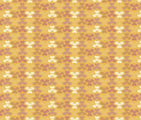 © 2011 Butterfly - Golden Chrysanthemum-small fabric by glimmericks on Spoonflower - custom fabric