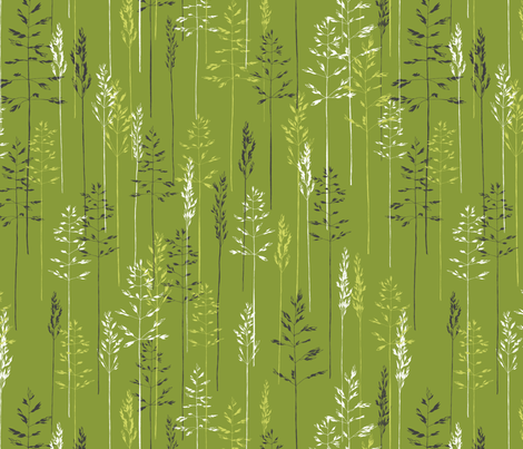 Grasses Make Me Sneeze fabric by meduzy on Spoonflower - custom fabric
