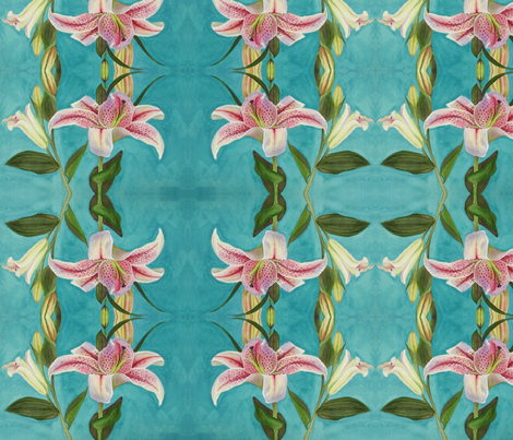 Asiatic Lily fabric by painter13 on Spoonflower - custom fabric