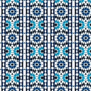 oriental mosaic batik blue-xxl