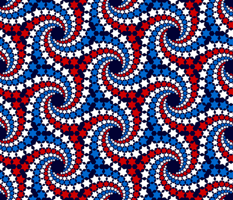 R6 V1 c12x5 - spiralling stars fabric by sef on Spoonflower - custom fabric
