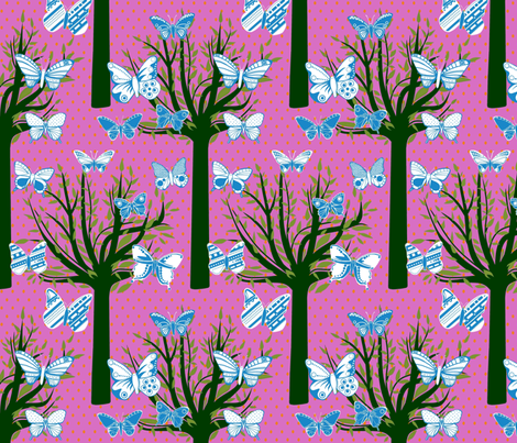 Butterfly Forest fabric by scrummy on Spoonflower - custom fabric