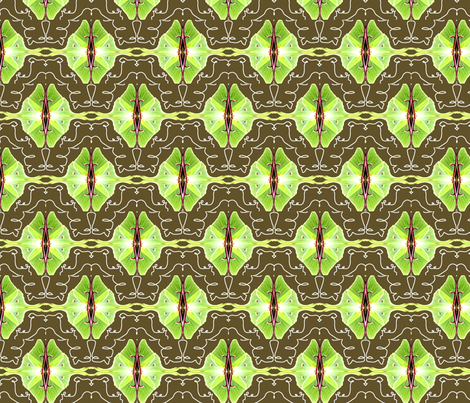 Mirrored Luna Moths fabric by robin_rice on Spoonflower - custom fabric