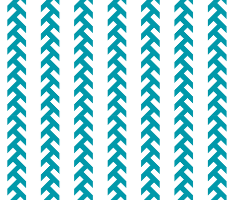 tracks-Teal fabric by newmom on Spoonflower - custom fabric