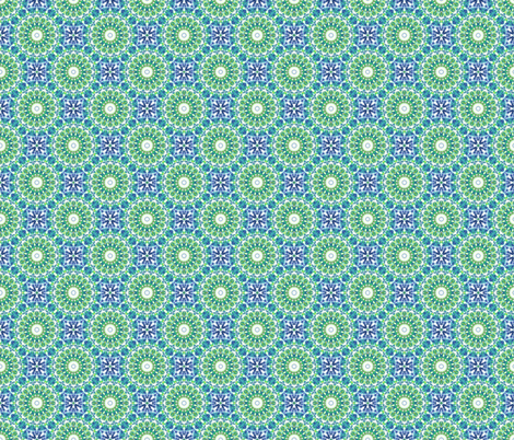 Fairground Fireworks  - Green. fabric by rhondadesigns on Spoonflower - custom fabric