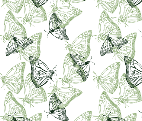 butterflyOne2011 fabric by nikky on Spoonflower - custom fabric