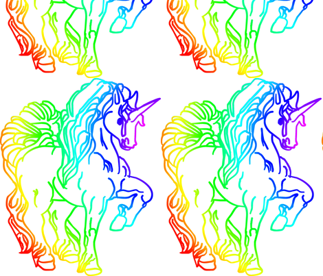 Unicorn_colour fabric by moonduster on Spoonflower - custom fabric