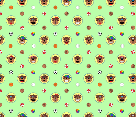 Monkeying Around with Sports fabric by shannonmac on Spoonflower - custom fabric