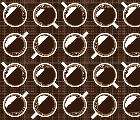 Damn Fine Cup of Coffee fabric by kahoxworth on Spoonflower - custom fabric
