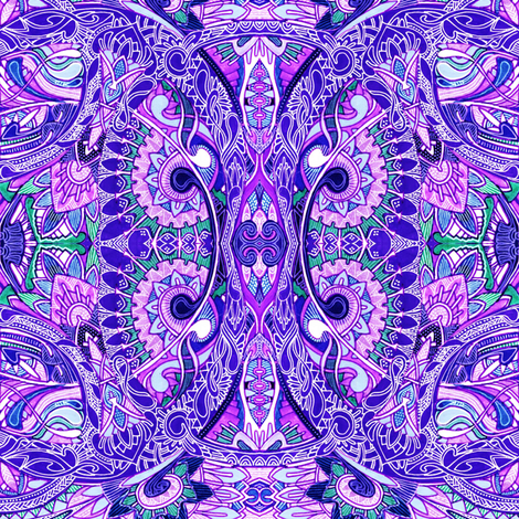 circle_of_life_paisley_in lavender fabric by edsel2084 on Spoonflower - custom fabric