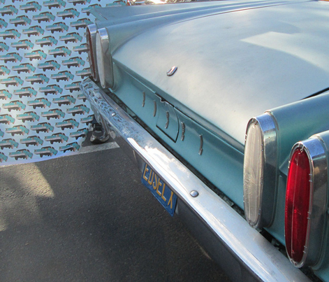 1960 Edsel Ranger 2 door sedan rear view aqua/turquoise