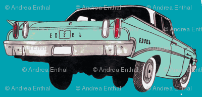 1960 Edsel Ranger Rear view aqua/turquoise