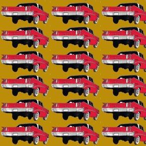 red 1960 Edsel Ranger on mustard background