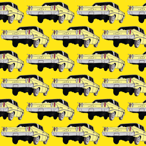 1960 Edsel Ranger Lemonade rear view fabric by edsel2084 on Spoonflower - custom fabric