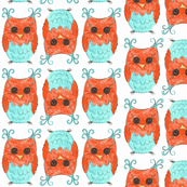 HOOTIE OWL-white