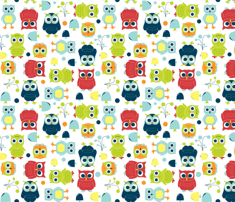 Owls - Rainbow fabric by aimeemarie on Spoonflower - custom fabric