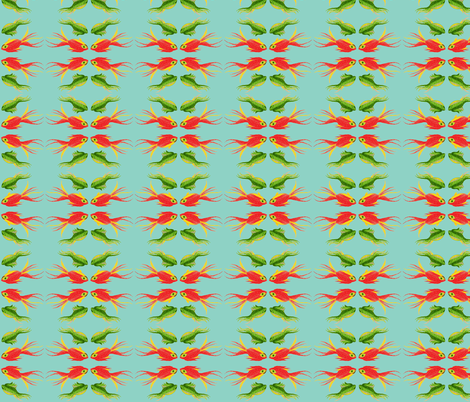 HAPPY FISHIES 2 fabric by garwooddesigns on Spoonflower - custom fabric