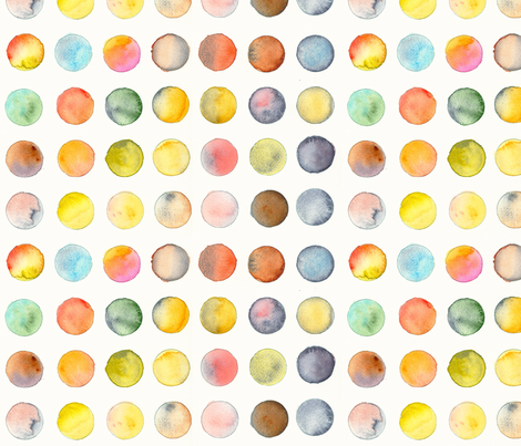 scarf_dots fabric by pearginger on Spoonflower - custom fabric