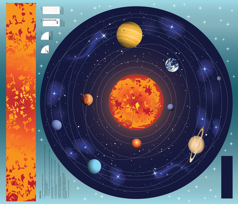 It all revolves around me fabric kahoxworth spoonflower for Solar system fabric
