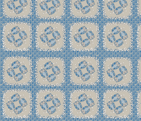 © 2011 Icey Owls fabric by glimmericks on Spoonflower - custom fabric