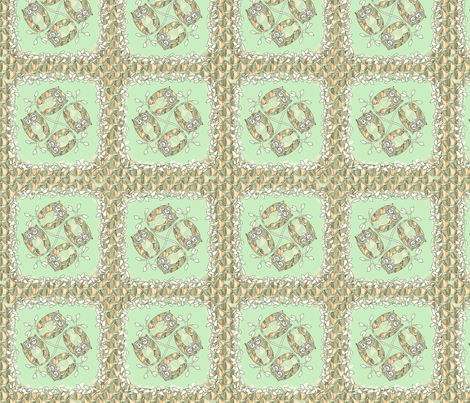 © 2011 Minty Fresh Owls fabric by glimmericks on Spoonflower - custom fabric