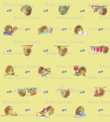 The Hedgehog, Yellow   alexcolombo.com